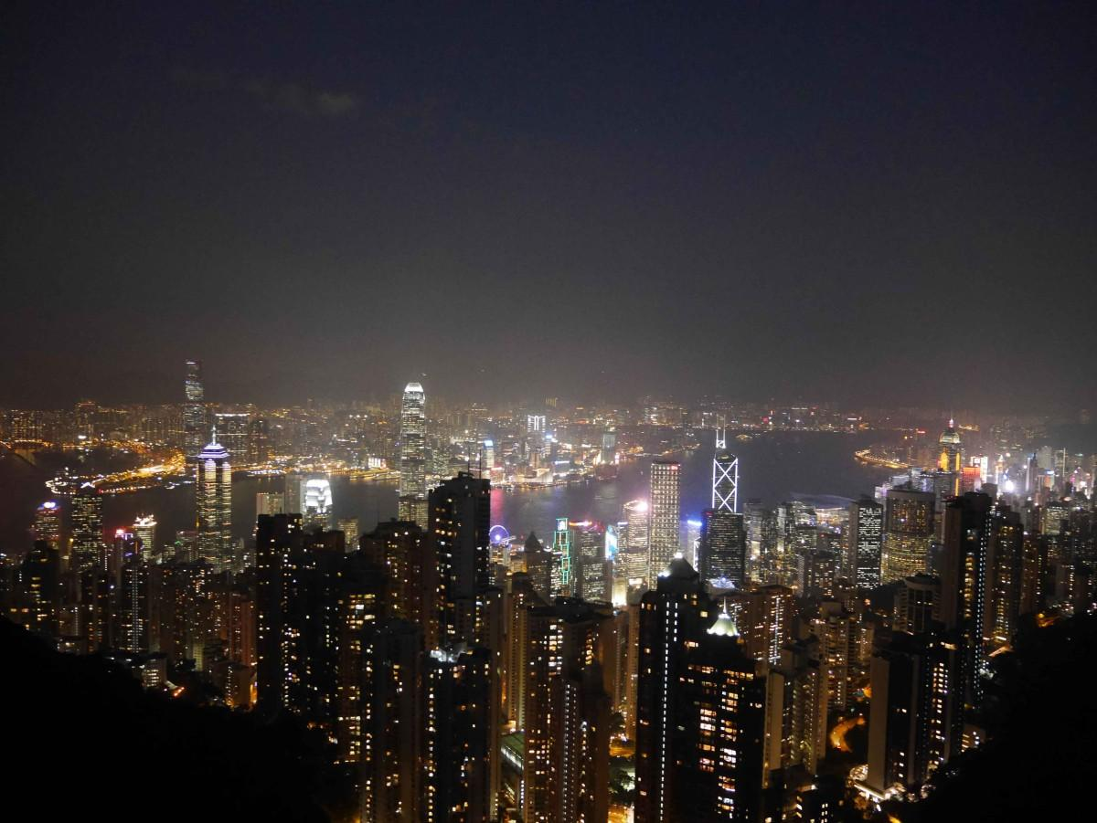 Stunning Night view of Hong Kong from the Peak   Laugh Travel Eat