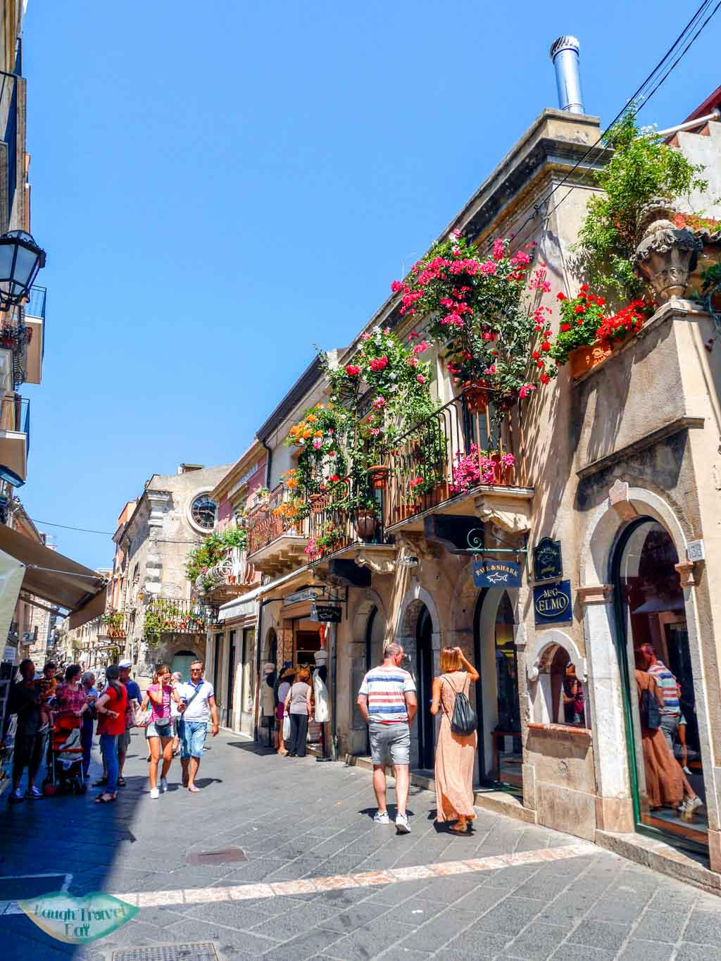 Walking in the old town of Taormina, Sicily | Laugh Travel Eat