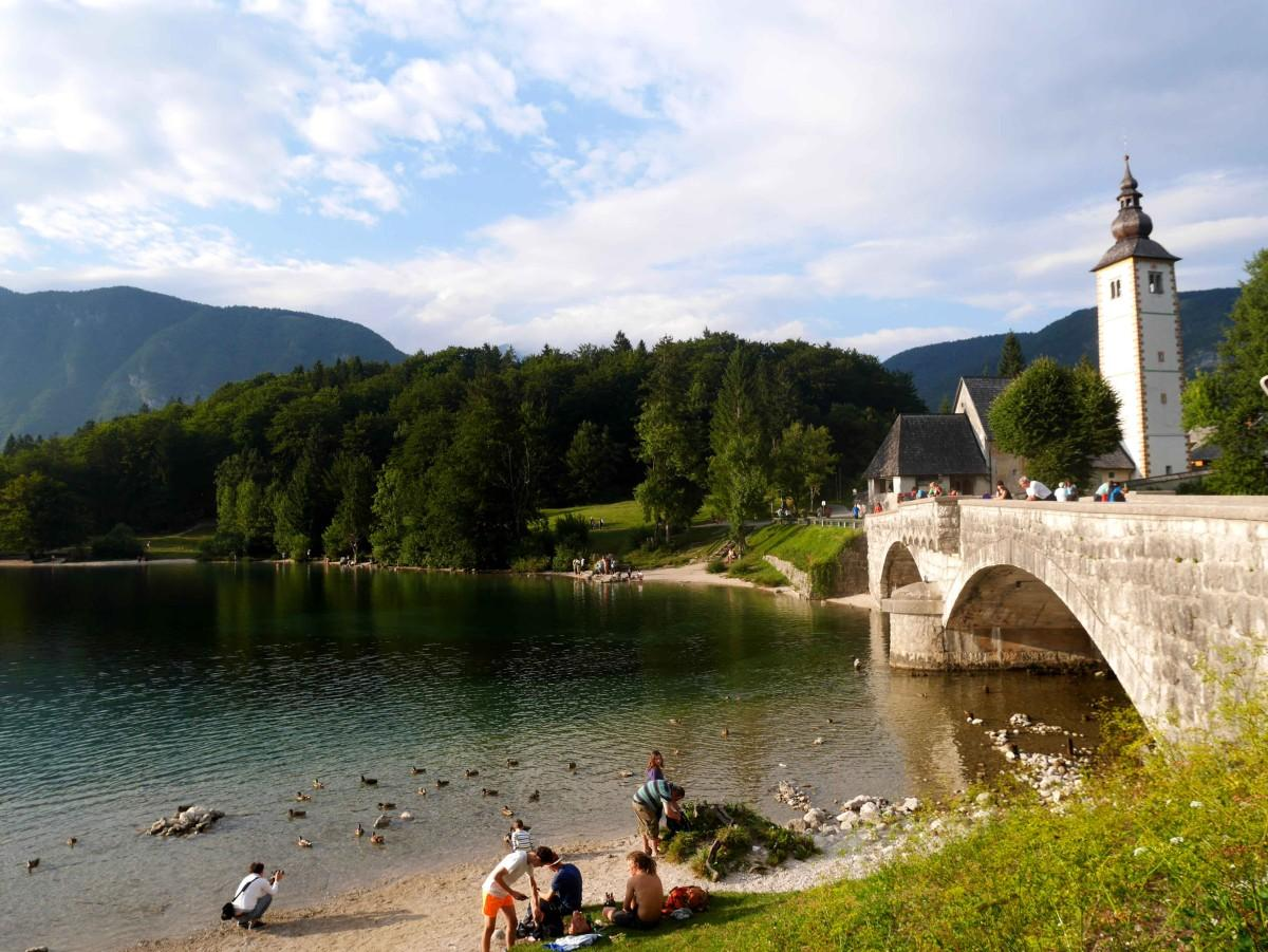 The quietly pretty town of Ribcez Laz, Bohinj region, Slovenia | Laugh Travel Eat