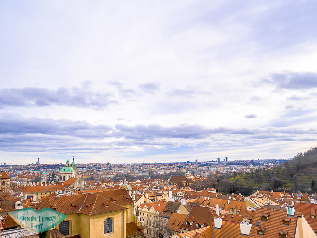 Panoramic view near Hradcany (starbucks) in Prague, Czech Repulic - Laugh Travel Eat