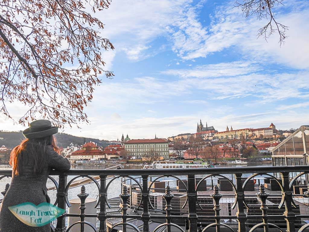 Riverside between Charles Bridge and Rudolfonium, Prague, Czech Republic - Laugh Travel Eat