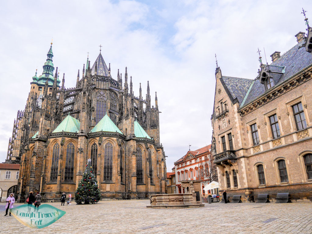 St. Vitus Cathedral castle complex Prague Czech Republic Europe - laugh travel eat