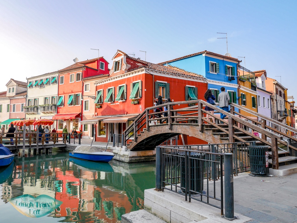 bridge burano colourful houses Venice Italy - laugh travel eat