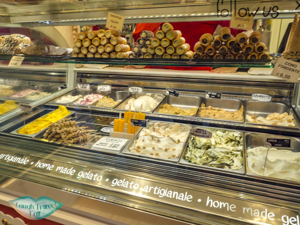 gelato stop the tour guide food tour venice italy - laugh travel eat