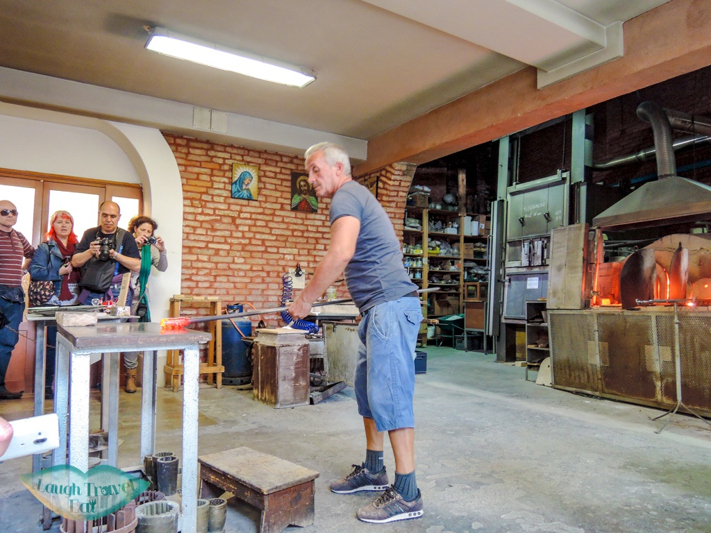 glass making demonstratin murano three island tour Venice Italy - laugh travel eat