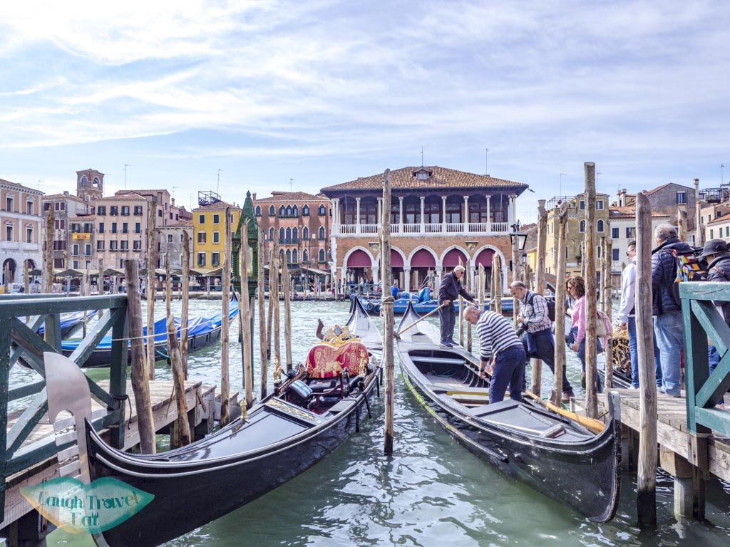 gondola ride across canal the tour guide food tour venice italy - laugh travel eat