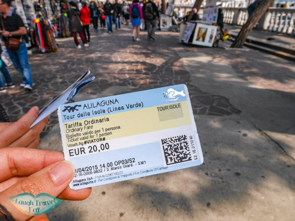 ticket for three island tour Venice Italy - laugh travel eat