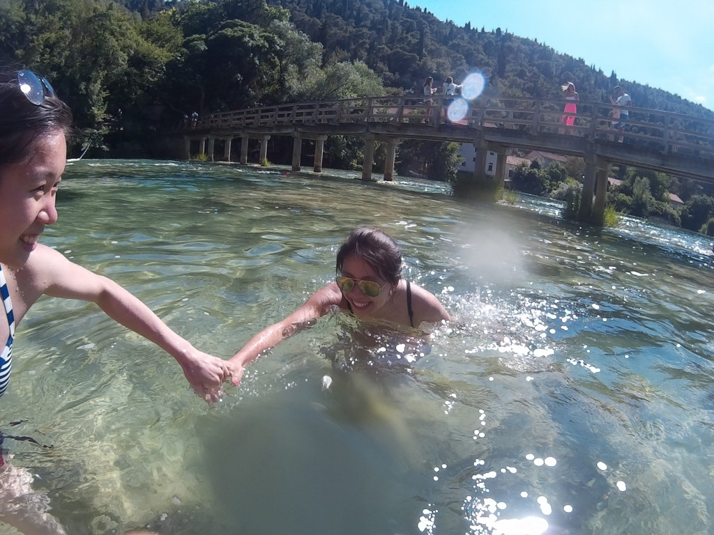 Swimming in the Krka National Park