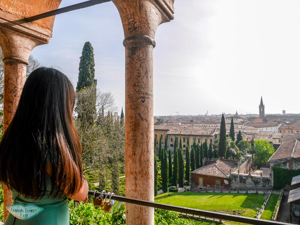 me looking out at giardino giusti verona italy