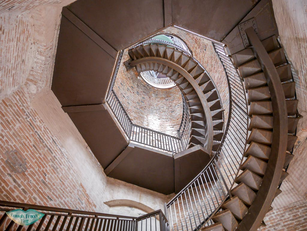 spiral staircase of torre dei lamberti verona italy | Laugh Travel Eat