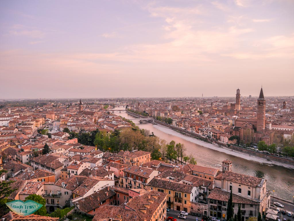 sunset view from castel san pietro verona italy | Laugh Travel Eat