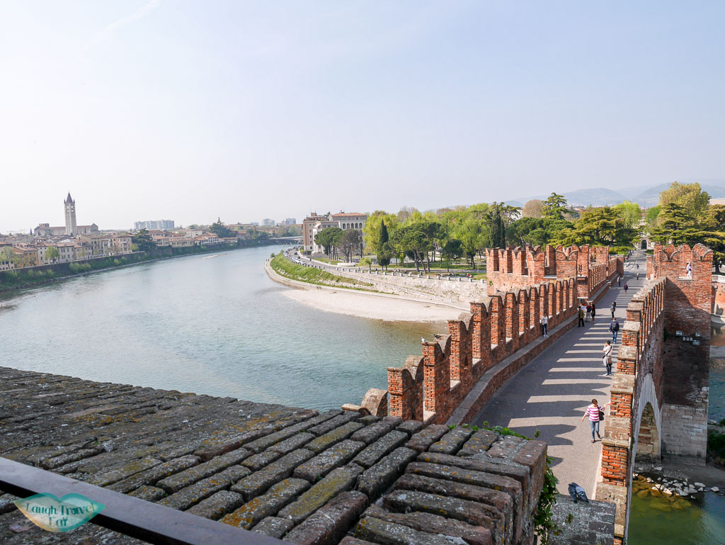 view of river adige from Castelvecchio verona italy | Laugh Travel Eat