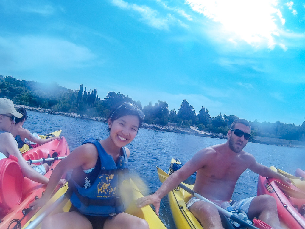 wing and instructor kayak from dubrovnik to lokrum croatia