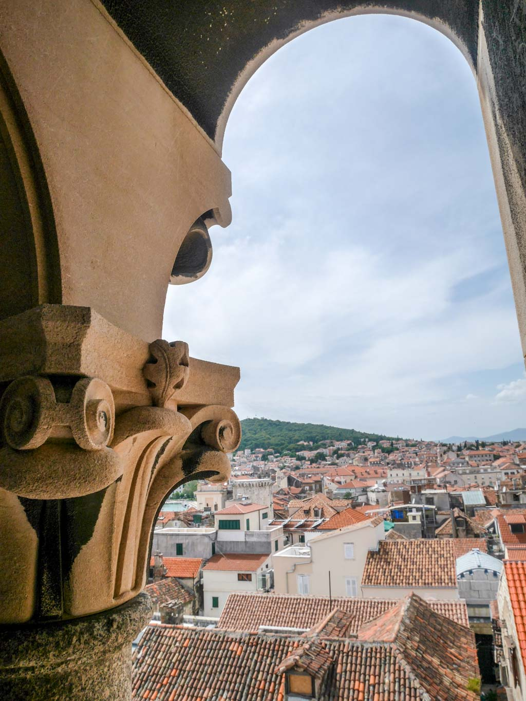 glimpses of split up the The Cathedral of St Dominus tower diocletians palace split croatia