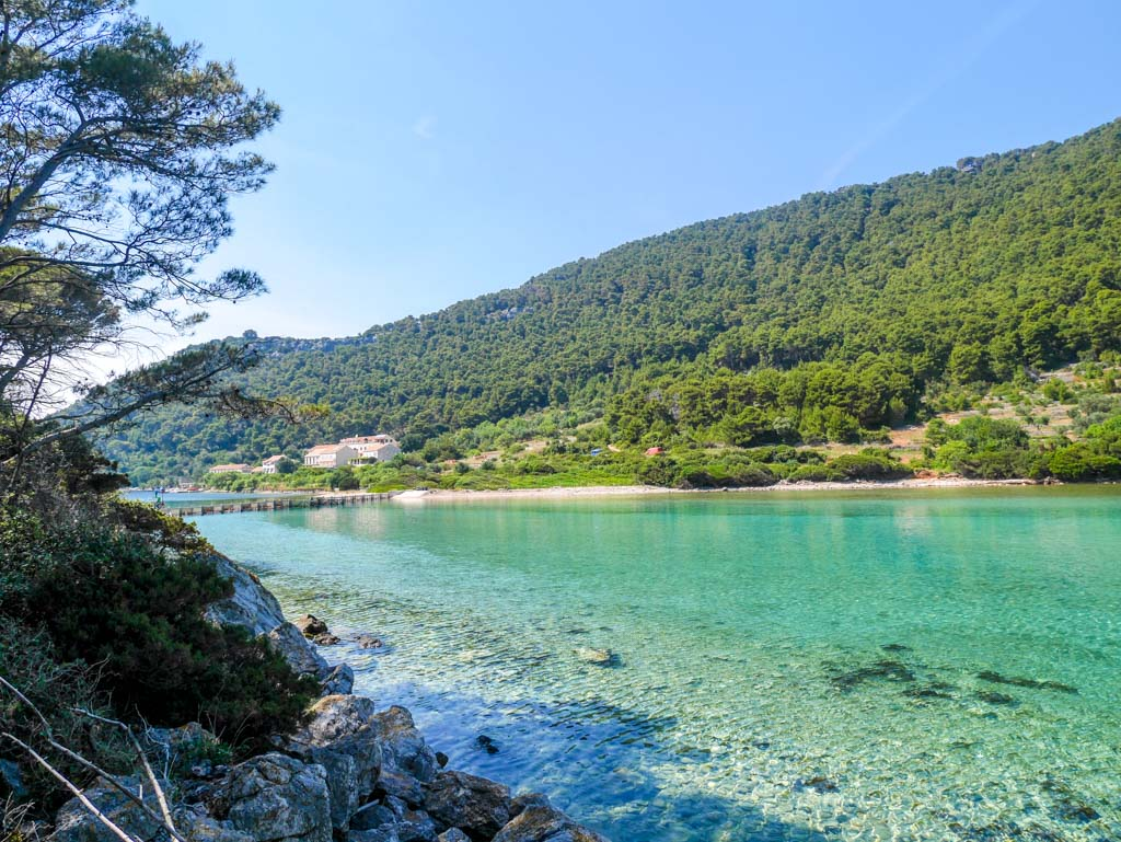 solace on the opposite side of lagoon mljet national park croatia