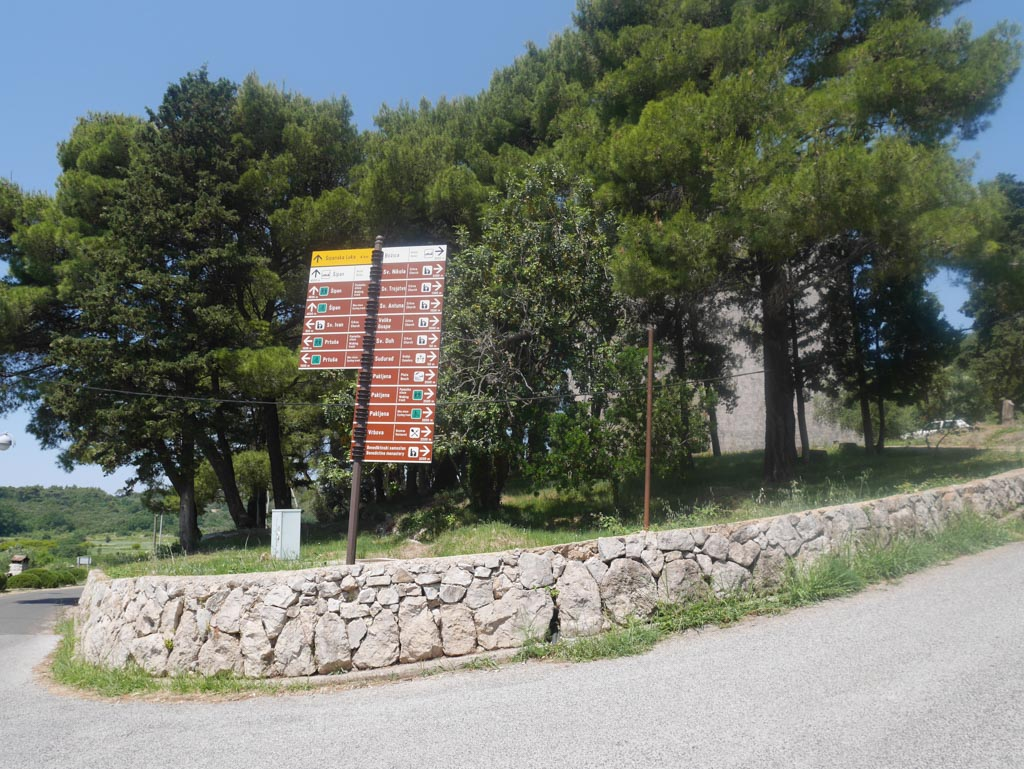the big roundabout on sipan island to the cross church elaphiti island croatia