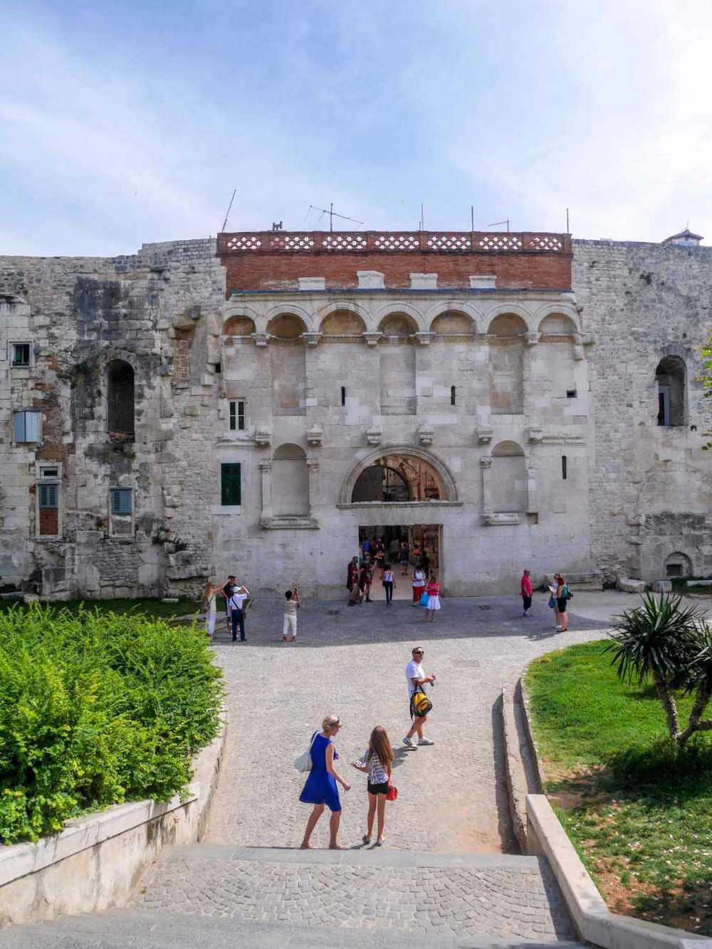 the golden gate diocletian's palace split croatia