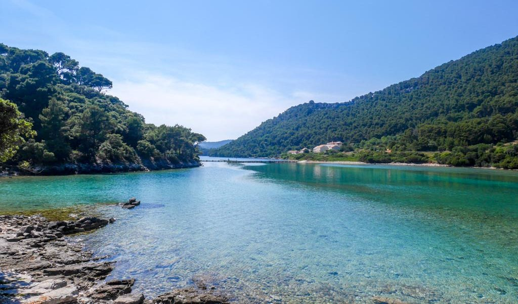 the lagoon of mljet national park croatia