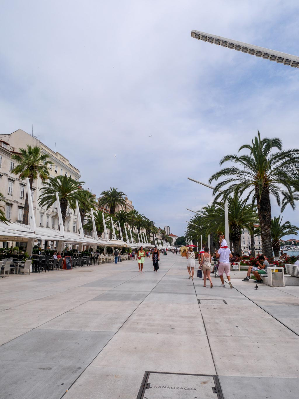 the riva seaside pavement split croatia