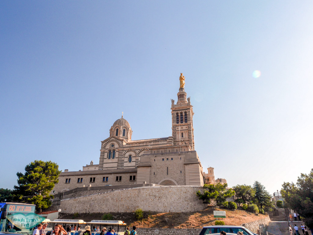 Basilique Notre-Dame de la grade from a distance marseille france | Laugh Travel Eat