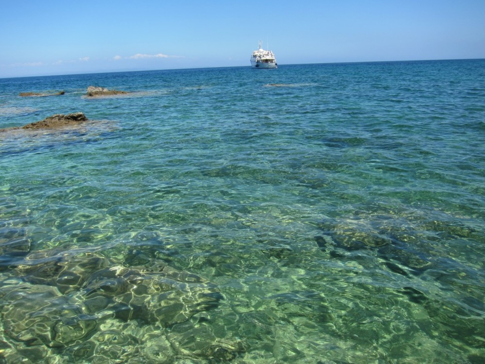 clear water in Zakynthos