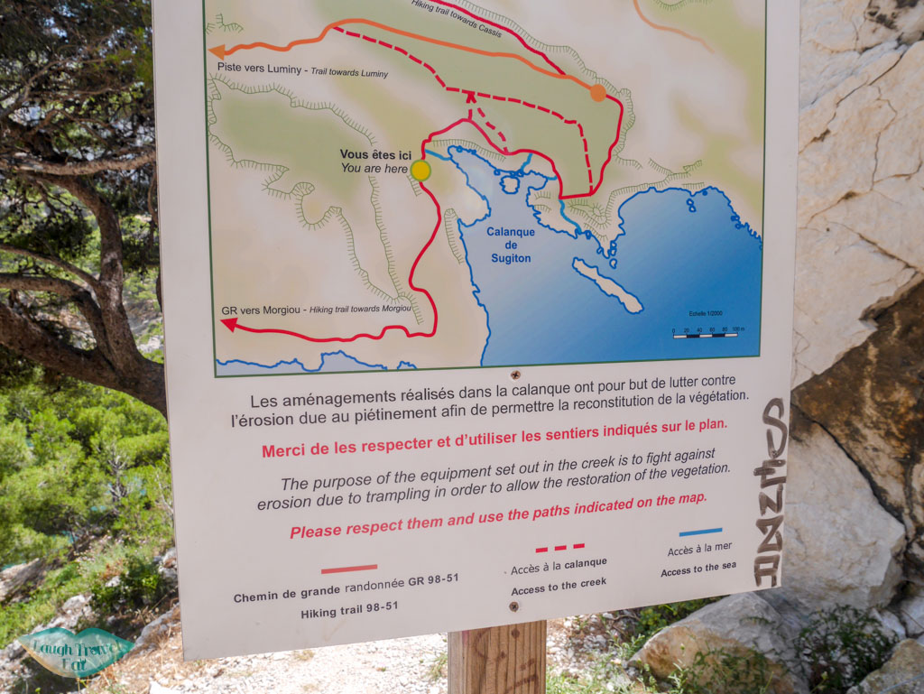 calanques national park map south of france | Laugh Travel Eat