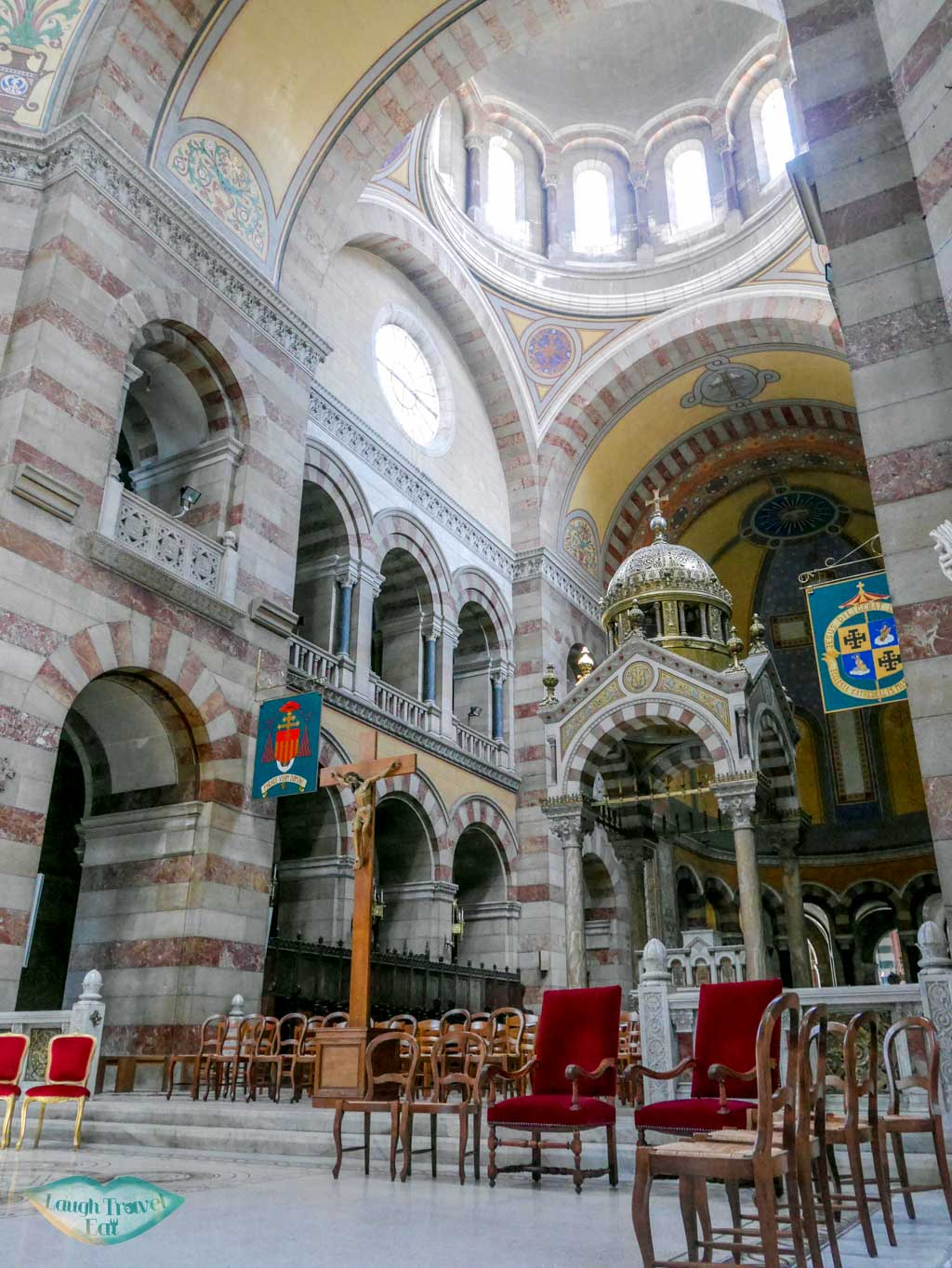 inside marseille cathedral marseille south of france | Laugh Travel Eat