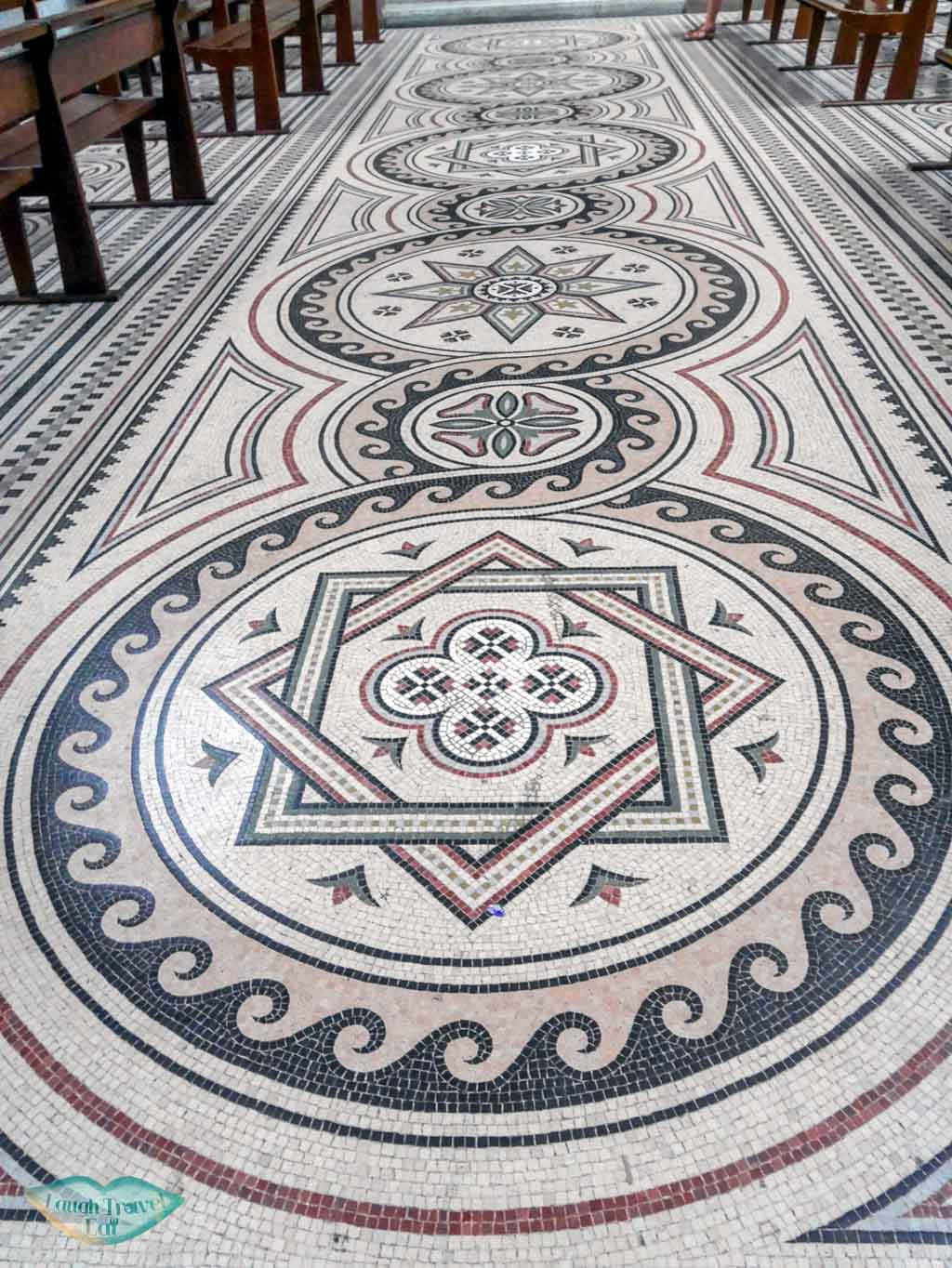 mosaic floor marseille cathedral marseille south of france | Laugh Travel Eat