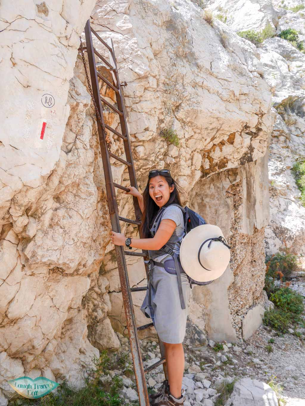 steel ladder from calanque de sugiton to calanque de morgion | Laugh Travel Eat