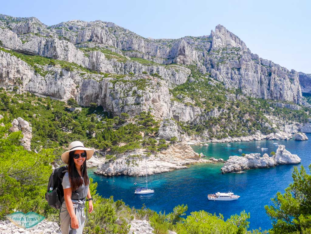 view of calanque de sugiton with me from calanque de sugiton to calanque de morgion | Laugh Travel Eat