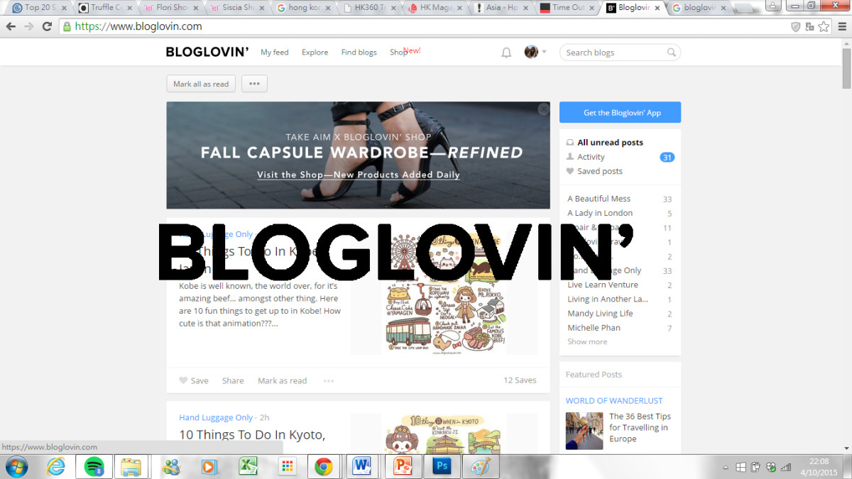 Bloglovin' is a good place for travel inspiration | Laugh Travel Eat
