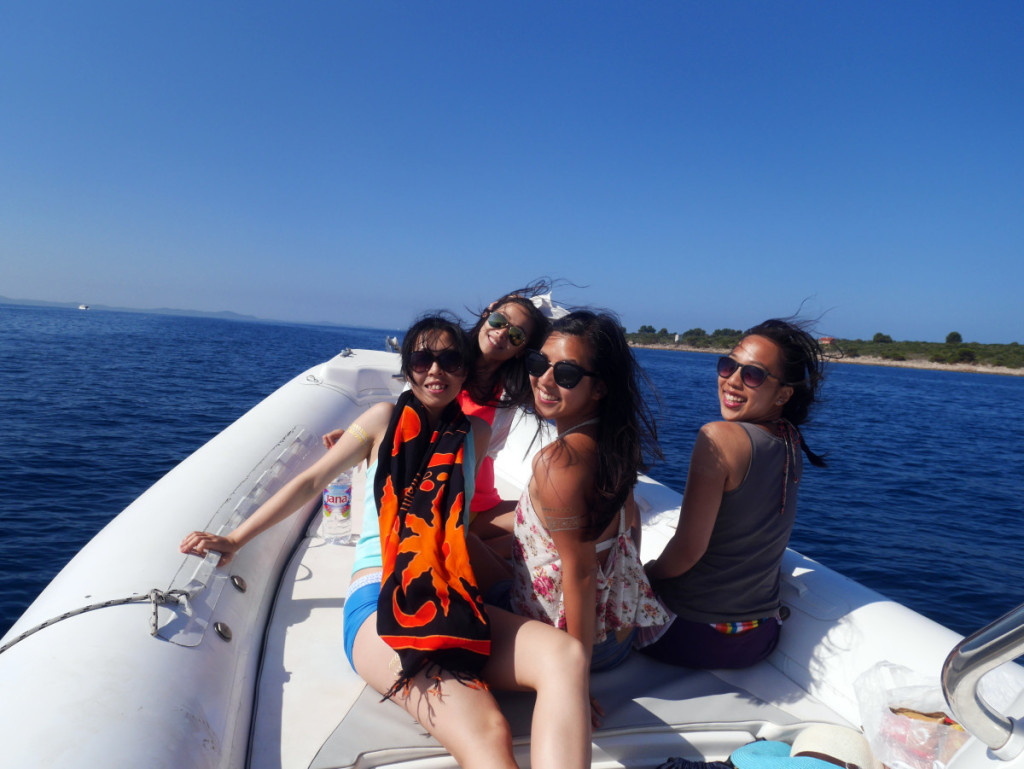 Enjoying the sun on our Ultimate Boat Trip from Split