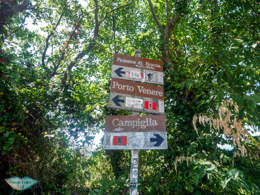 another hiking trail sign to portovenere liguria italy | Laugh Travel Eat