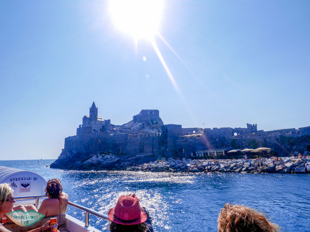church of st petetr from boat portovenere liguria italy | Laugh Travel Eat