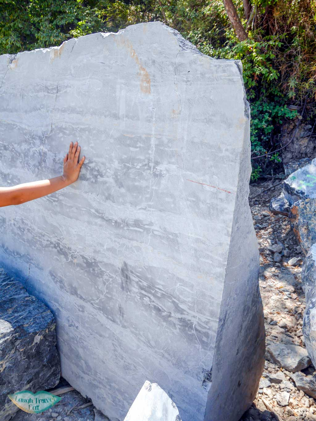 marble mined in quarry on hike to portovenere liguria italy | Laugh Travel Eat