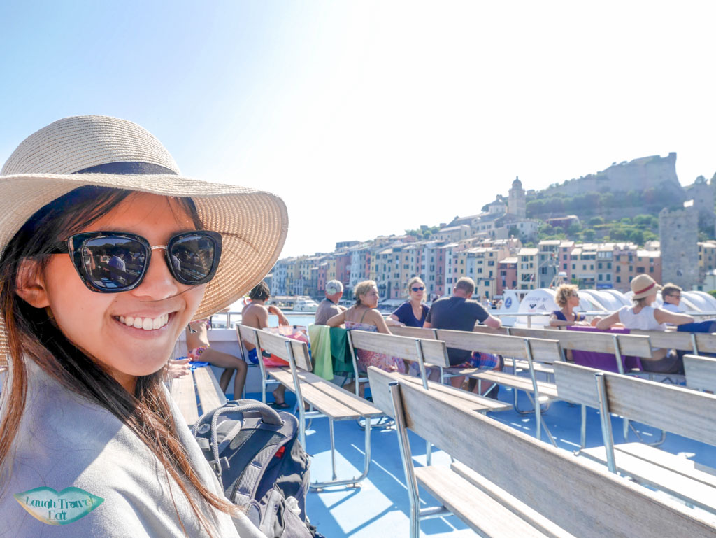 on boat from portovenere to cinque terre liguria italy | Laugh Travel Eat