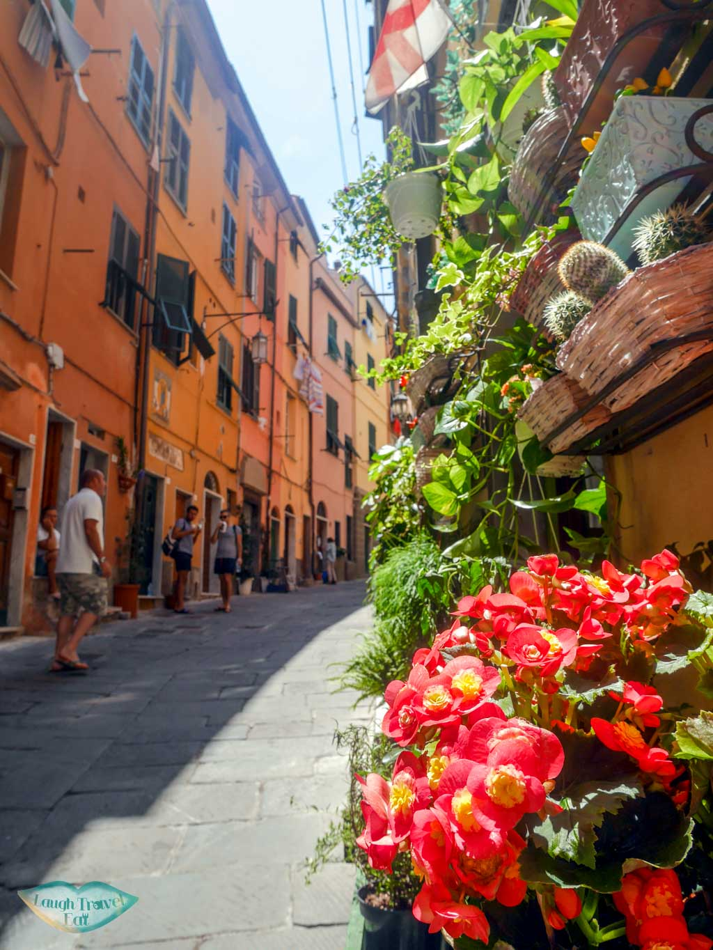 portovenere old town colourful with flower liguria italy | Laugh Travel Eat