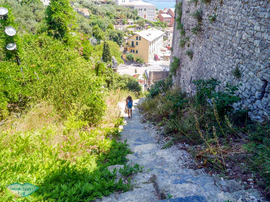 stairs next to dorian castle last part of hike to portovenere liguria italy 2 | Laugh Travel Eat