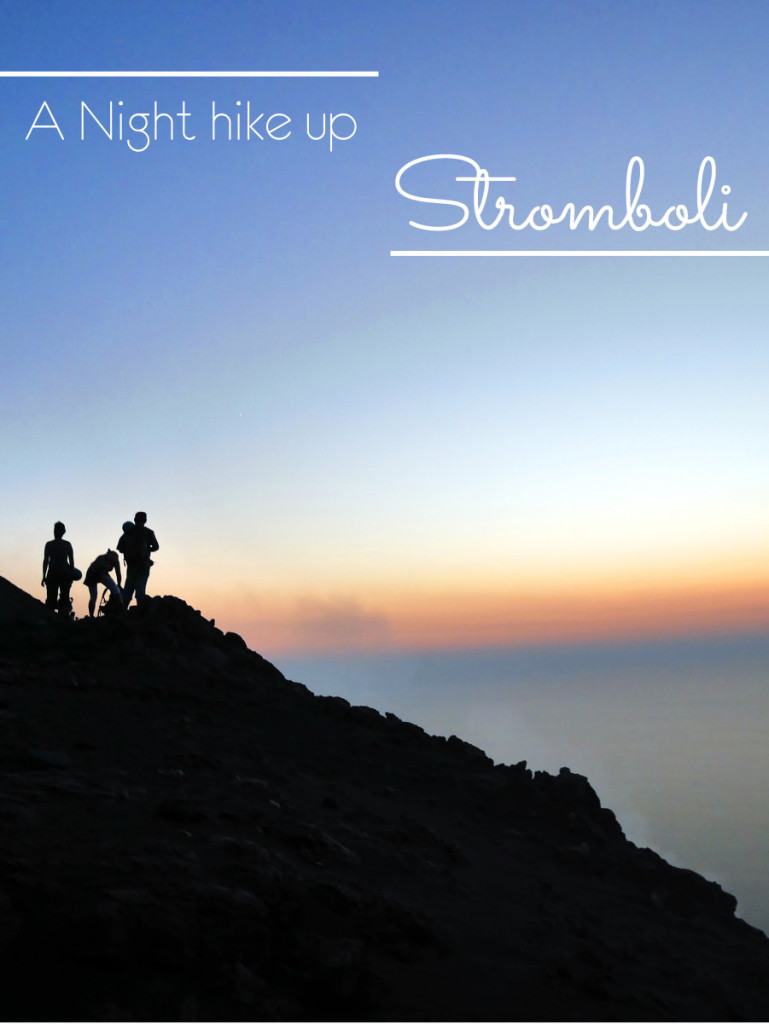 A Night hike up Stromboli