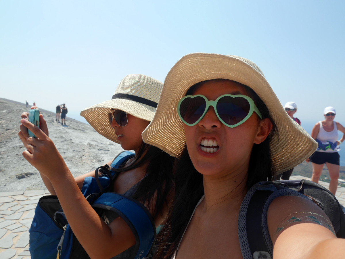 My sister wasn't please with me complaining all the way up Vulcano in the Aeolian Islands
