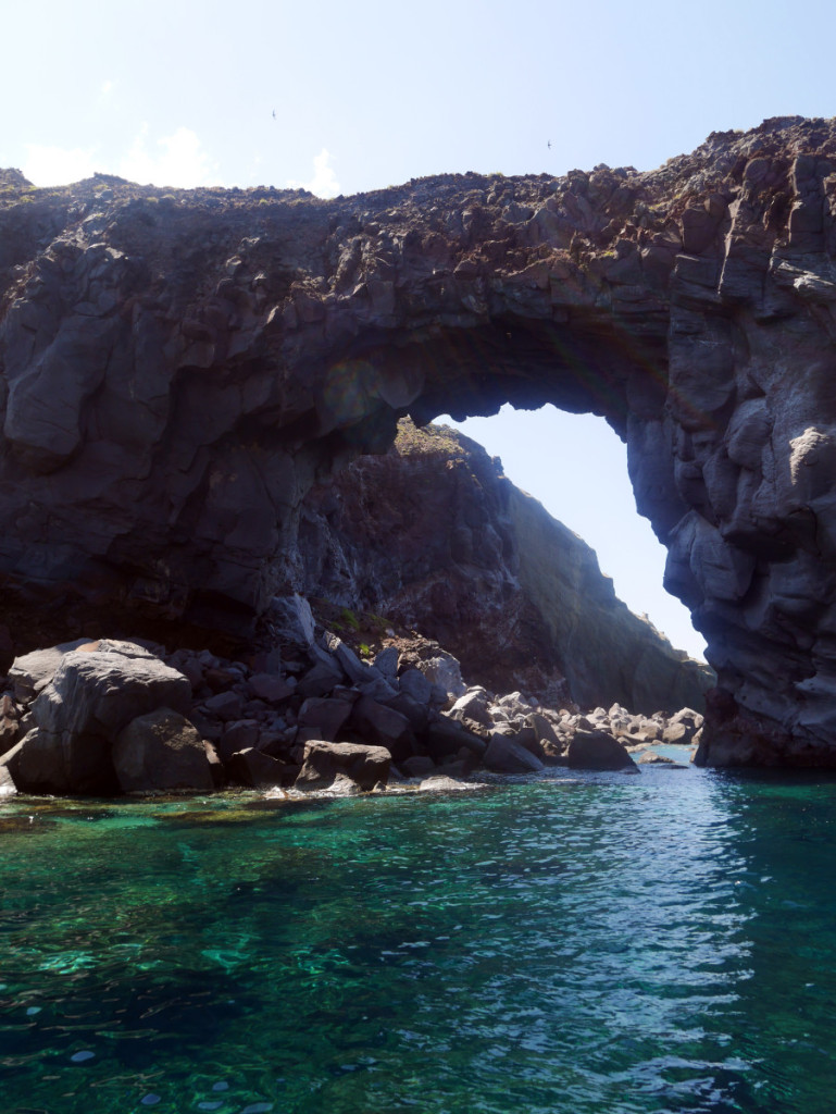 natural arch around Lipari, Aeolian Islands