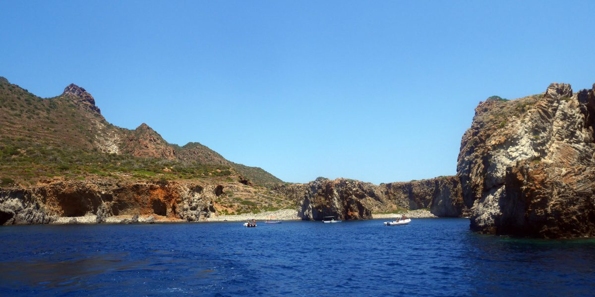 view of Panarea from the sea| Laugh Travel Eat