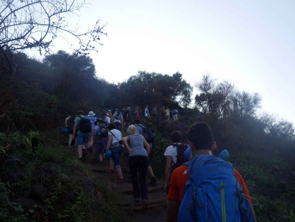 beginning of the hiking trails up Stromboli