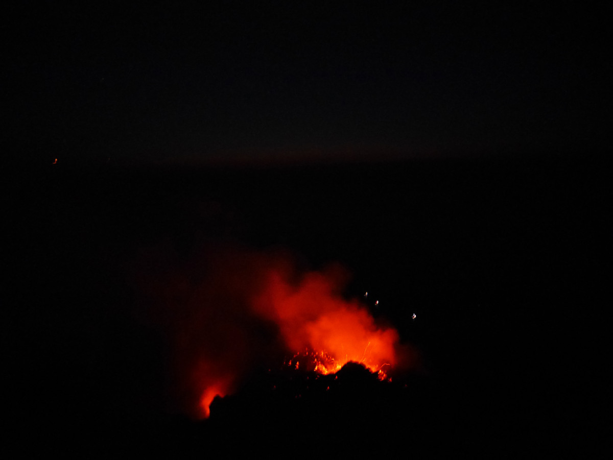 Volcanic Eruption on Stromboli Island