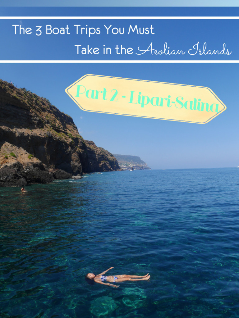 The 3 Boat Trip You must take in the Aeolian Islands, Part 2 - Salina-Lipari. You will depart from Lipari and go around the famous sights such as Pumice Beach and Cyclops Island, with a lunch stop at Salina.