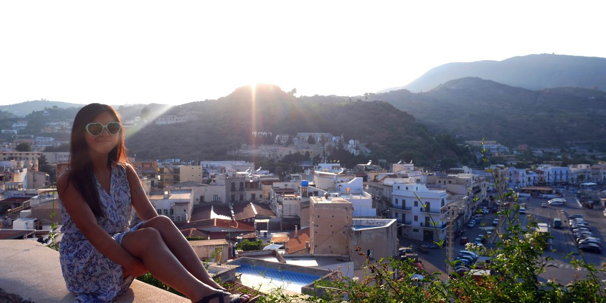 View of Lipari from a hill, Aeolian Islands, Sicily, Italy| Laugh Travel Eat