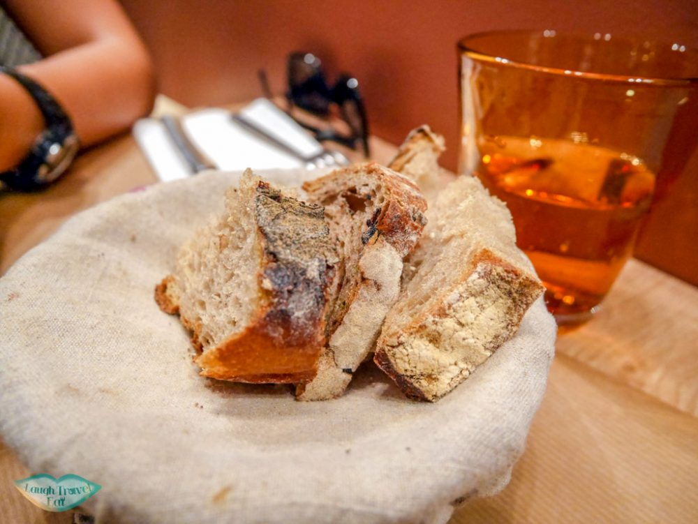 bread at olive and artichaut restaurant old town nice south of france | Laugh Travel Eat