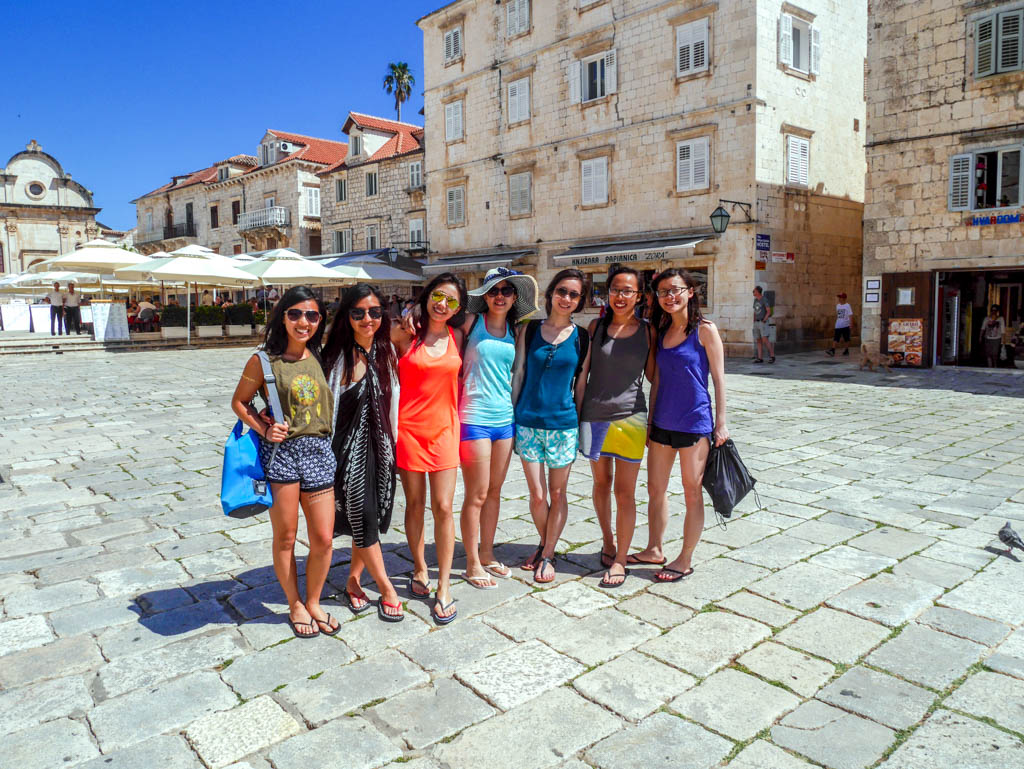 group shot in hvar town hvar croatia