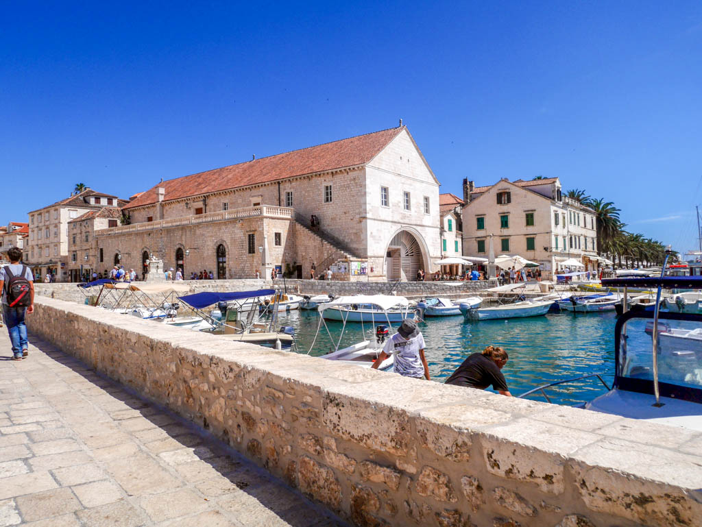hvar town buildings croatia