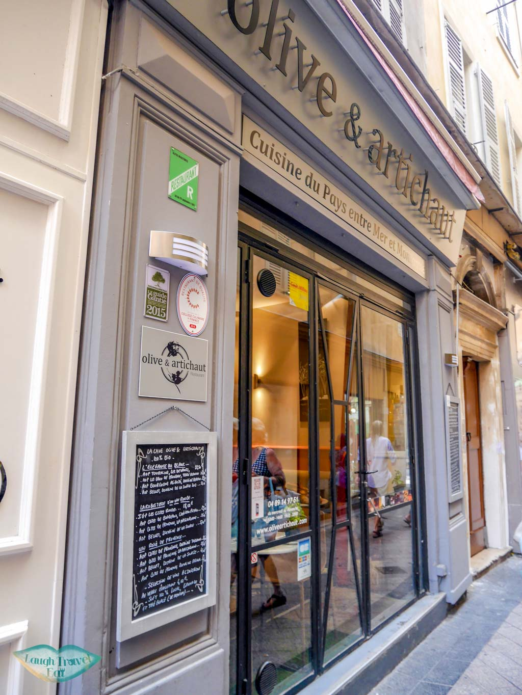 olive and artichaut restaurant old town nice south of france | Laugh Travel Eat
